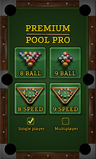 Premium Pool Pro для Windows Phone