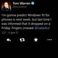 Windows 10 на смартфоны выйдет сегодня