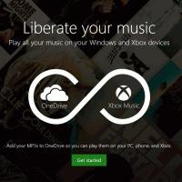 OneDrive интегрировали с Xbox Music