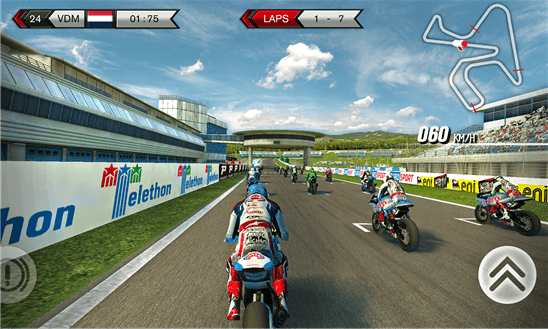 Скачать SBK15 Official Mobile Game для Samsung Omnia 7