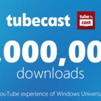 Tubecast был загружен 1 миллион раз