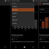 Системное приложение Аудио получило обновление до Windows 10 Mobile