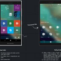 Концепт визуальных улучшений для Windows 10 Mobile