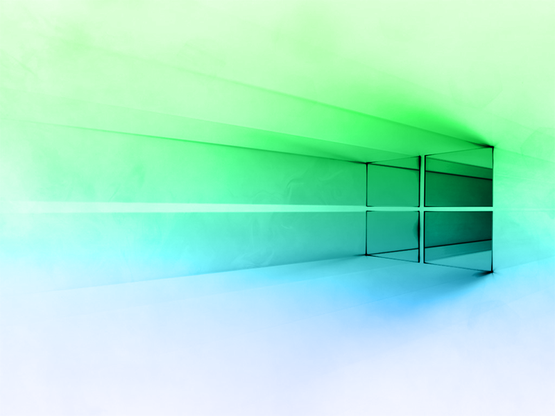 Windows 10 White Green-Blue Gradient