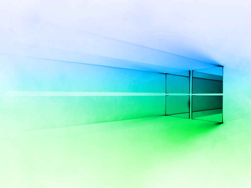 Windows 10 Gradient Blue Green Whiet
