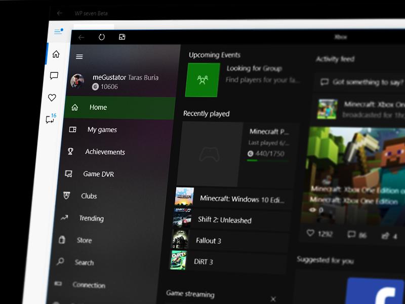 Тема Xbox Series X для Windows 10