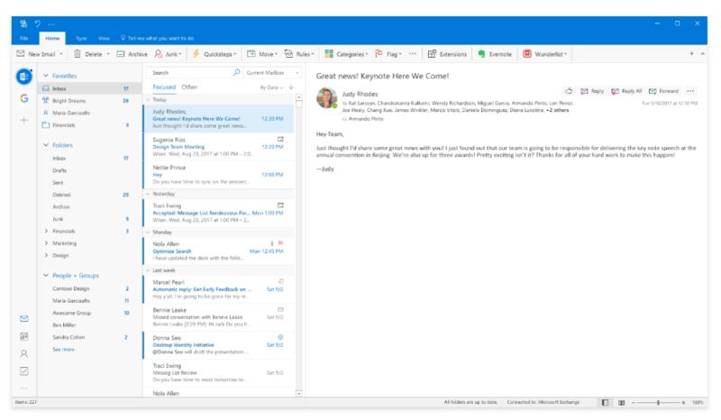 Outlook New Design