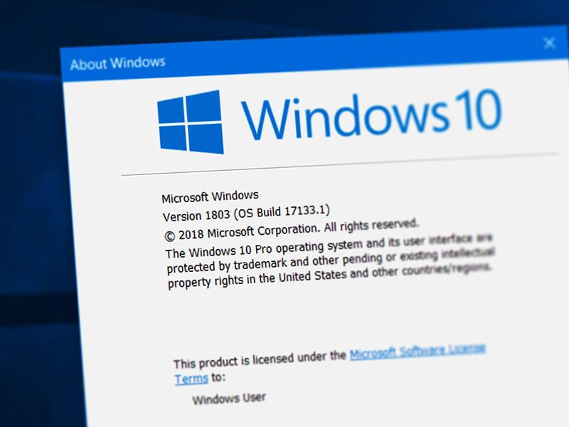 Windows 10 1803