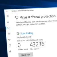 Обновление безопасности сломало ручное и запланированное сканирование в Windows Defender