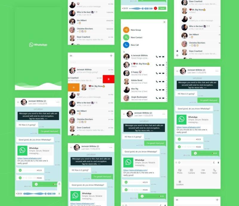 WhatsApp UWP Concept
