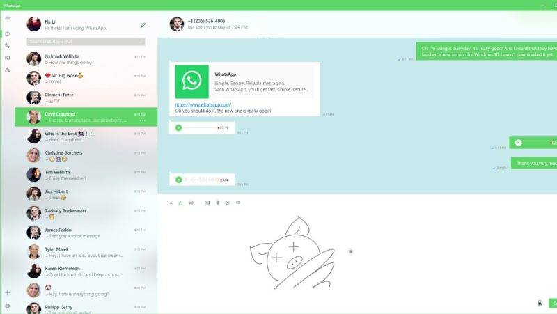 WhatsaApp Desktop UWP