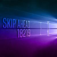 Вышла сборка 18219 в Skip Ahead