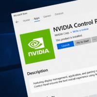 В Microsoft Store появилась Панель управления Nvidia