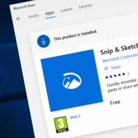 Snip & Sketch получило функцию задержки создания скриншота
