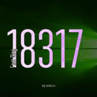 Вышла сборка 18317 в Fast Ring