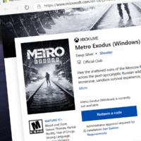 Метро Исход появилась в Microsoft Store