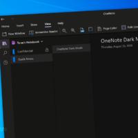 OneNote для Windows 10 получило улучшения управления темной темой