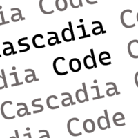Microsoft представила новый шрифт для разработчиков Cascadia Code