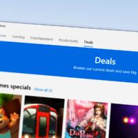 В Microsoft Store появилась вкладка со скидками