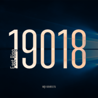 Вышла сборка 19018 в Fast Ring