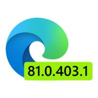 Вышло обновление Microsoft Edge Dev 81.0.403.1