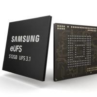 Samsung начала массовое производство 512 Гб памяти UFS 3.1
