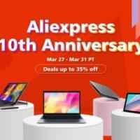 Скидки и акции на устройства CHUWI на Aliexpress в честь 10 годовщины магазина