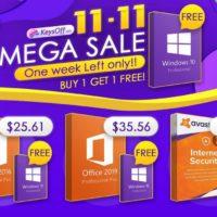 Распродажа 11.11 в магазине KeysOff – скидки до 55% и бесплатные ключи Windows 10