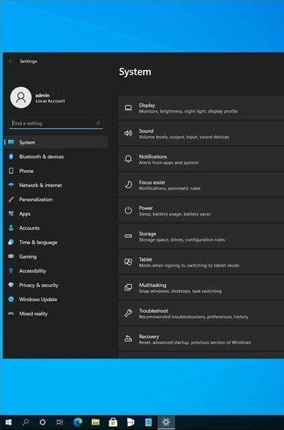 В сеть утёк скриншот приложения «Параметры» из Windows 11 / Sun Valley