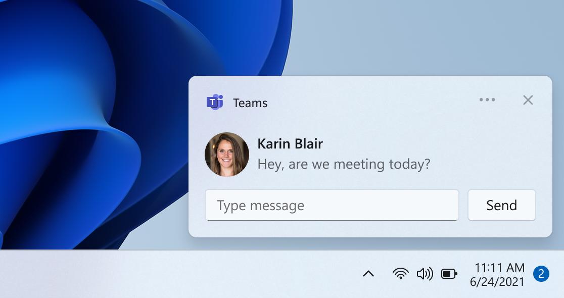 Инсайдерам Windows 11 стала доступна предварительная версия приложения «Чат» на базе Teams