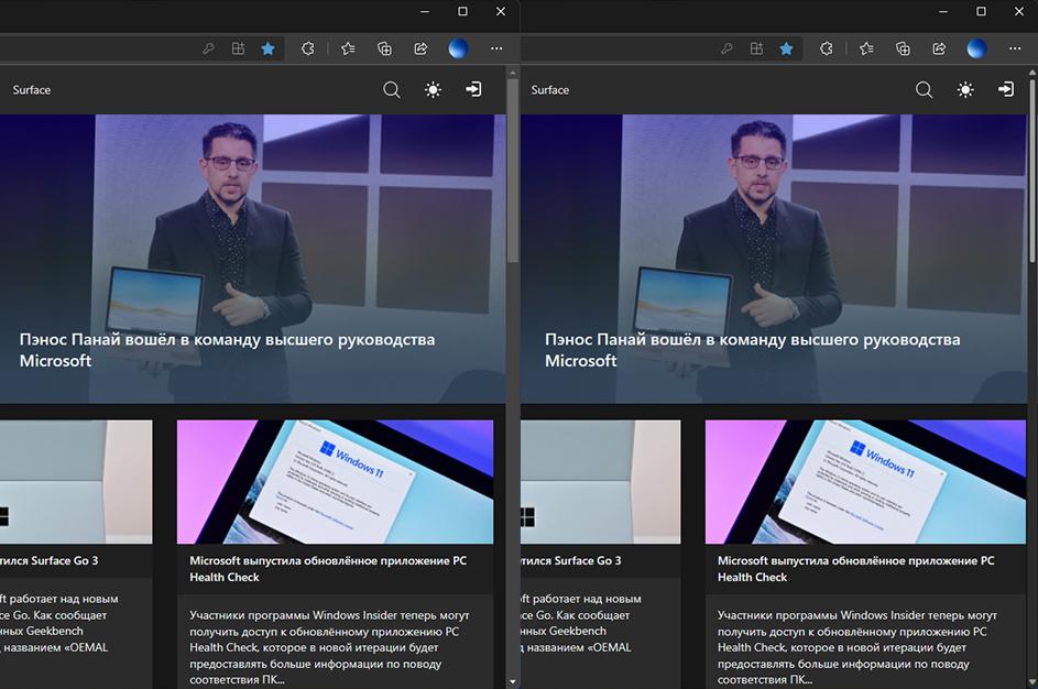Microsoft Edge Canary получил новые полосы прокрутки