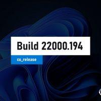 Windows 11 Insider Preview Build 22000.194 теперь доступен на канале Release Preview